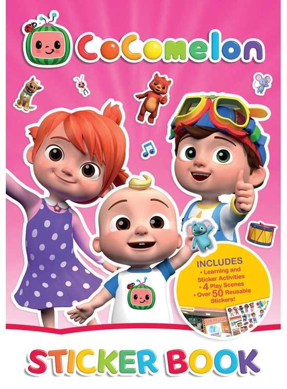 Cocomelon - kniha plná nálepiek, scény na lepenie a aktivity