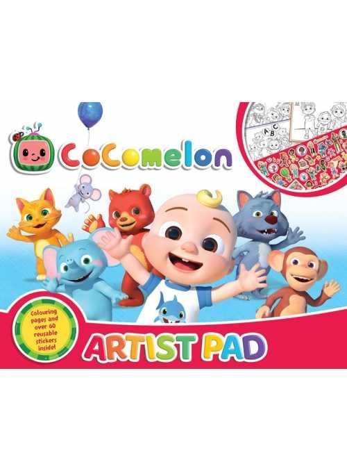 Cocomelon - veľký pracovný zošit ARTIST PAD s nálepkami a omaľovánkami, A3