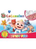 Cocomelon - veľký pracovný zošit ARTIST PAD s nálepkami a omaľovánkami