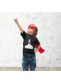 LIMITKA Detské zábavné iluminačné tričko čierne RAKETA +laser svetielko, 3-4 roky