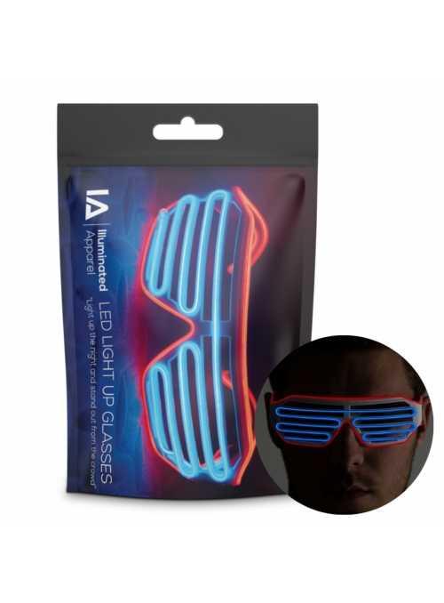 Iluminačné okuliare, modro/oranžové