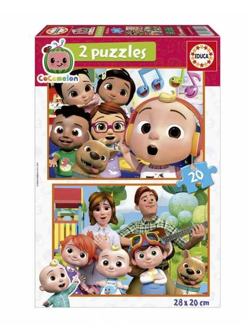 Cocomelon - set 2 puzzle, 2x20 kusov