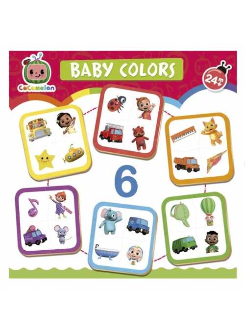 Cocomelon - learning colors, 6 puzzle