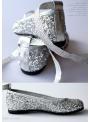 DOLLY balerínky 6GB strieborné trblietavé