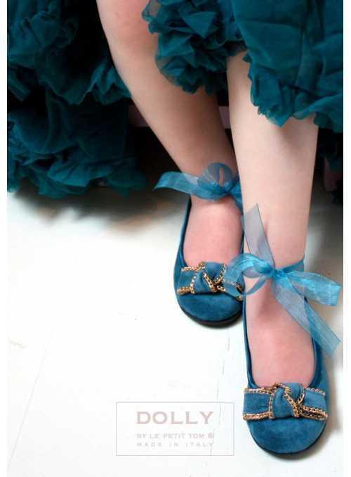 DOLLY balerínky 13GB tyrkysové
