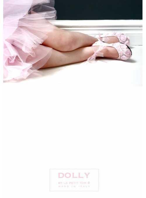 DOLLY balerínky 15GB ružičkové saténové ružové