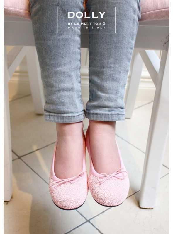 DOLLY by Le Petit Tom ® klasické dívčí baleríny růžové 'Bonbónové' 26GB