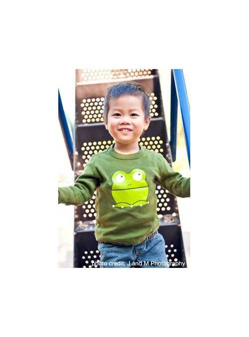Žabka Presto – olivové tričko veľkosť 4T