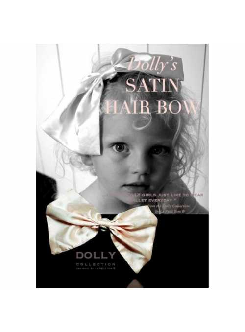 CLASSIC SATIN HAIR BOW cream