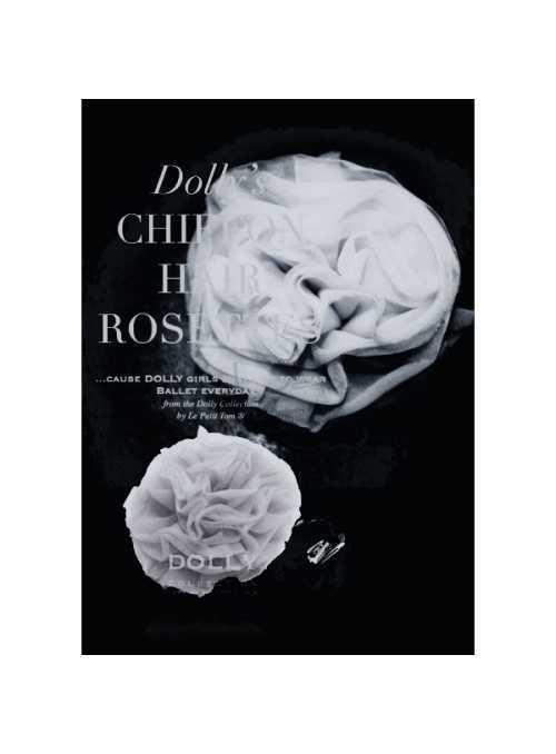 CHIFFON HAIR ROSETTE silver grey