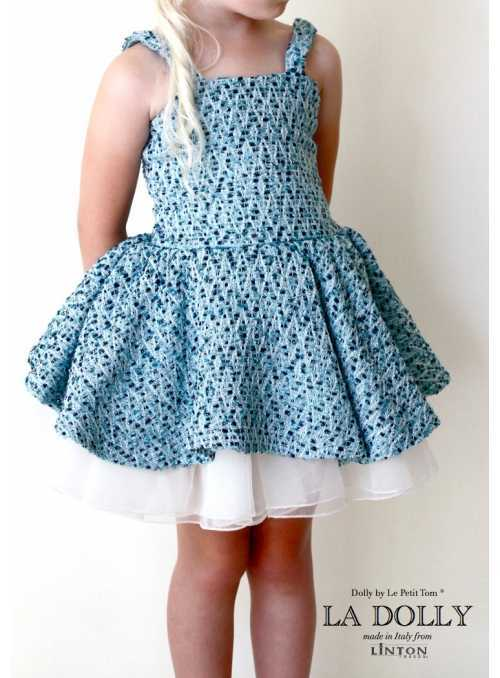 LA DOLLY Tweed ballet dress from LINTON TWEED - blue