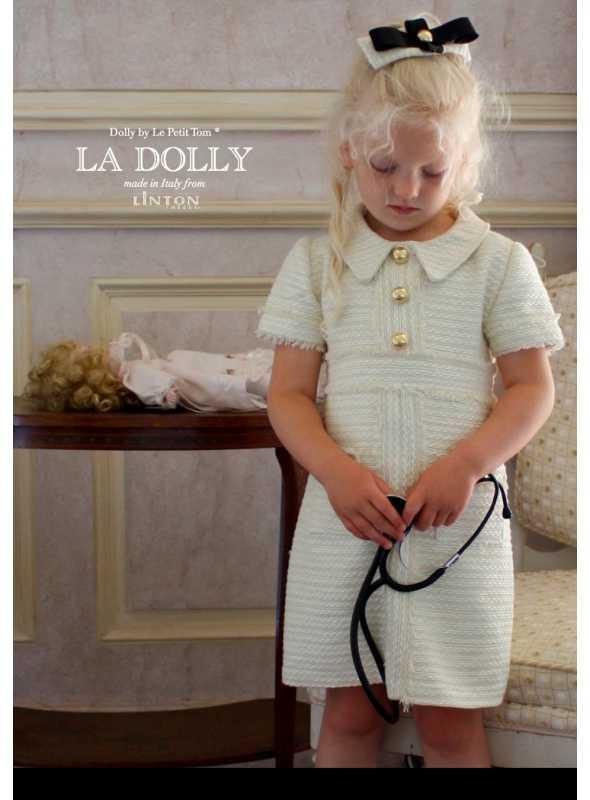 """LA DOLLY šaty """"SESTRIČKA"""" z LINTON TVÍDU – biele"""