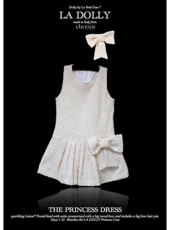 LA DOLLY PRINCEZNIČKOVSKÉ šaty z LINTON TVÍDU – biele