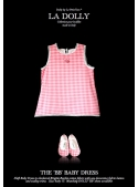 """LA DOLLY """"BB baby šaty"""" –ružové kárované"""