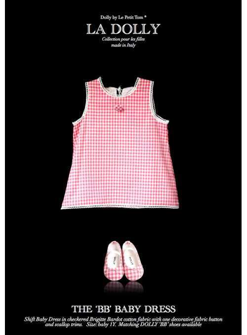 "LA DOLLY ""BB baby dress"" -pink checked"