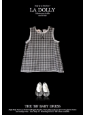 "LA DOLLY ""BB baby dress"" -Black checked"