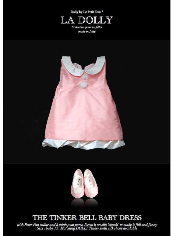 """LA DOLLY """"TINKER BELL šaty"""" –ružové"""