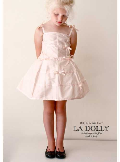 """LA DOLLY """"šaty MANEKÝNA"""" –bledě růžové"""