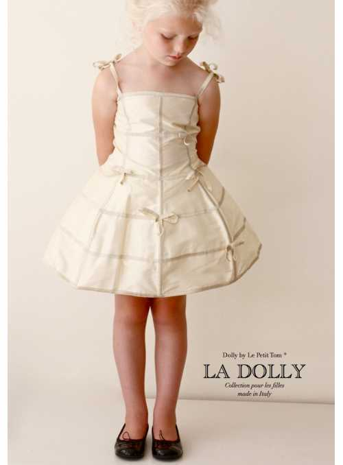 """LA DOLLY """"šaty MANEKÝNA"""" –krémové"""