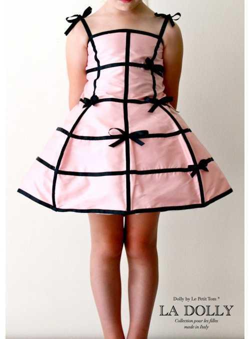 "LA DOLLY ""šaty MANEKÝNA"" –růžovo-černé"