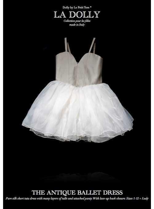 """LA DOLLY hodvábne """"ANTICKÉ šaty"""" –krátke"""