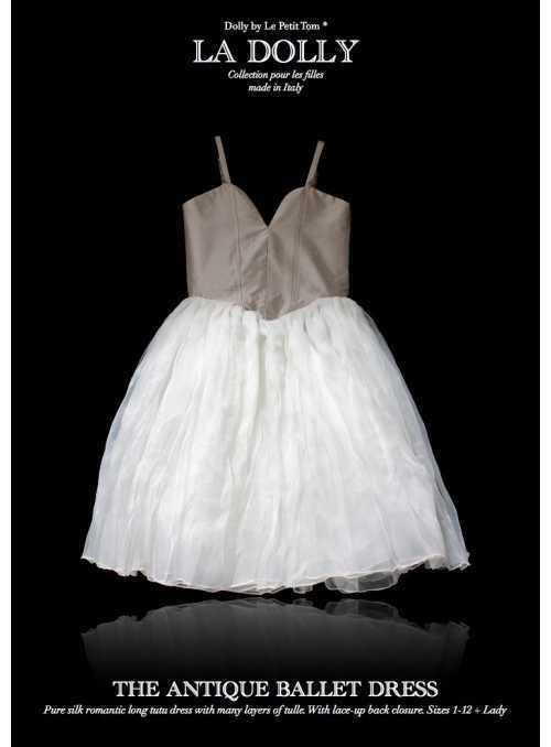 """LA DOLLY hodvábne """"ANTICKÉ šaty"""" –dlhé"""