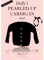PEARLED UP CASHMERE CARDIGAN black