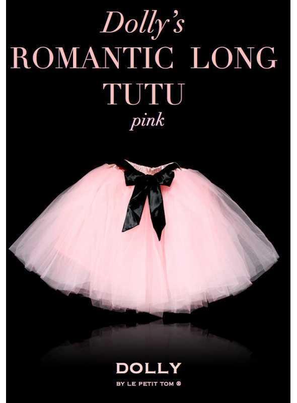 ROMANTICKÁ DLHÁ TUTU ružová + čierna