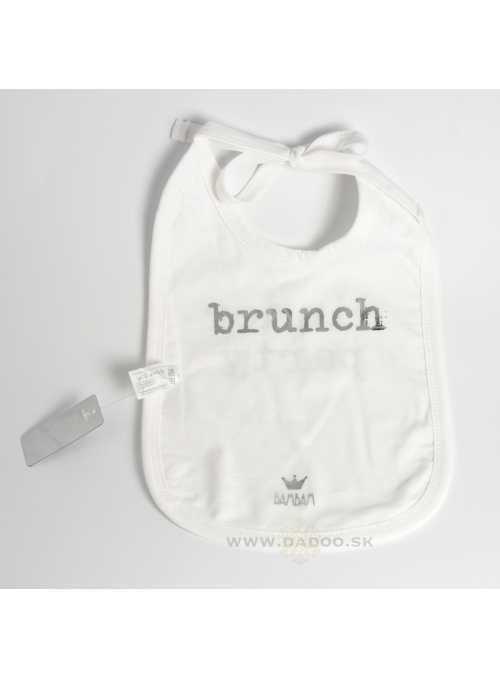"Reversible bib ""Dinner Party"""