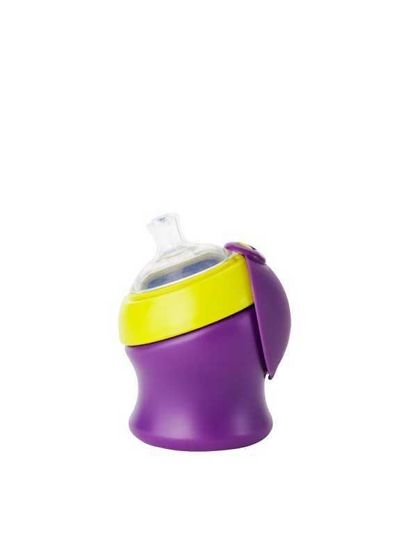 SWIG -  malá fľaška/pohár fialovo zelený