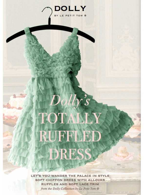 TOTALLY RUFFLED DRESS sea green