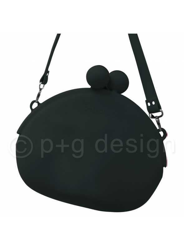 Silikónová luxusná kabelka na rameno – čierna