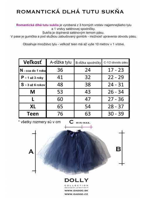 size Romantic long tutu
