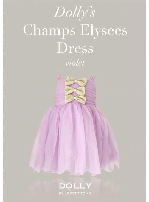 DOLLY šaty Champs Élyseés – fialové