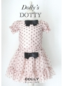 DOLLY dotted top ballet pink + black dots