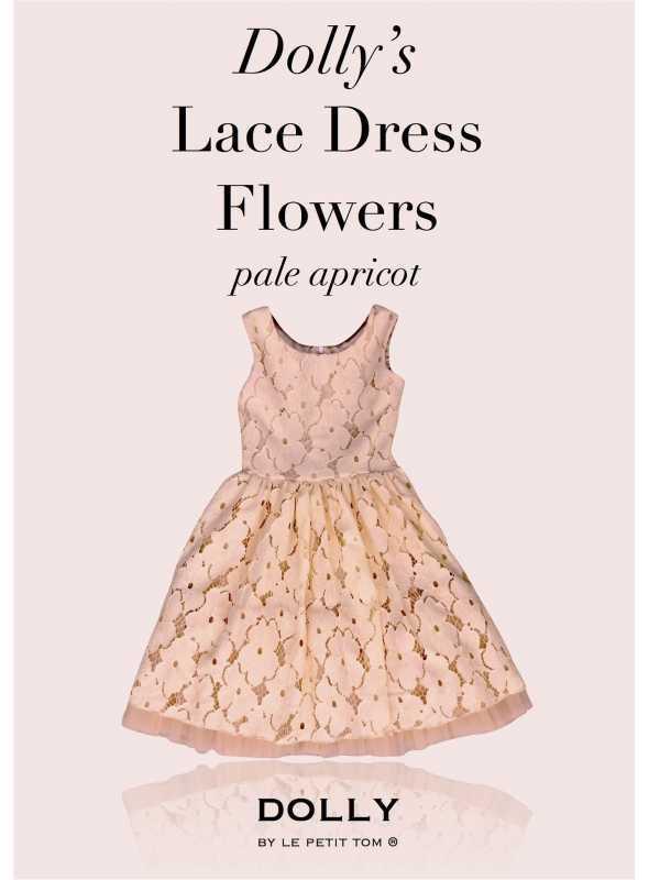 DOLLY čipkové kvetové šaty – broskyňové