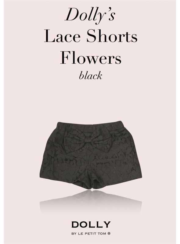 DOLLY lace shorts - black