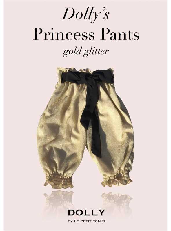 DOLLY princezničkovské nohavice – zlaté