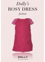 DOLLY RUŽOVÉ šaty /veľké kvety ruží/ - fuchsiové