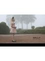 DOLLY bodkovaný top baletná ružová + čierne bodky