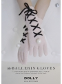 DOLLY ballerina cashmere gloves with pearls - pale pink