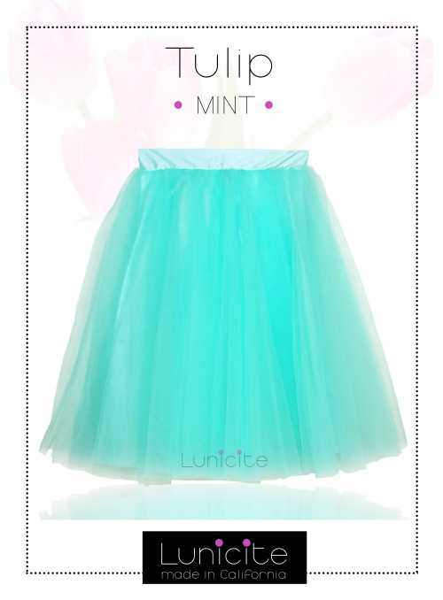 Lunicite MINT TULIP – exclusive tulle skirt mint