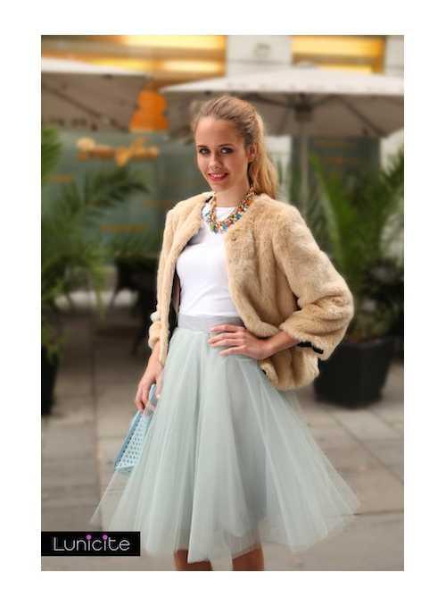 Lunicite ŠEDÝ TULIPÁN – exkluzívna tylová sukňa striebristo šedá