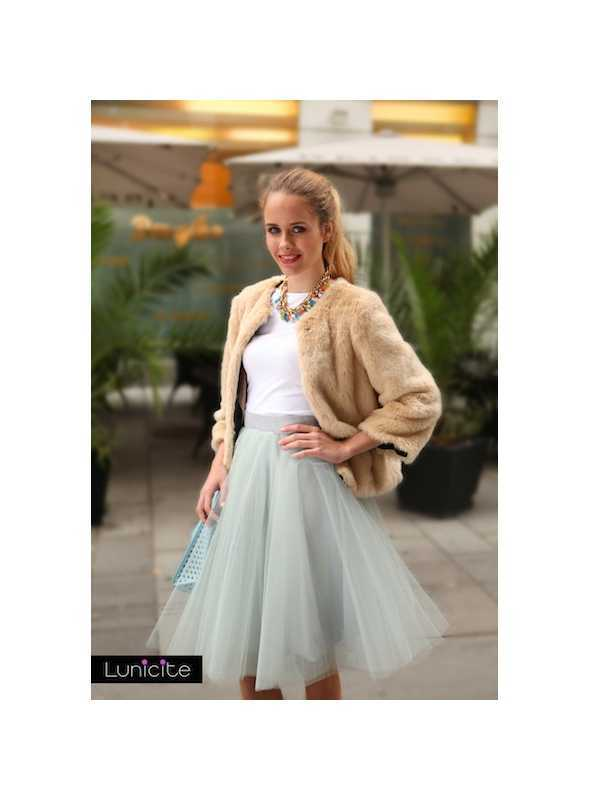 Lunicite GREY TULIP – exclusive tulle skirt silver grey