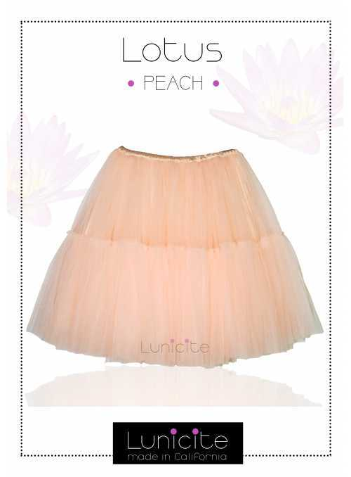 Lunicite PEACH waterlily - exclusive fluffy skirt - peach