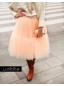 Lunicite PEACH LOTUS – exclusive fluffy skirt – peach