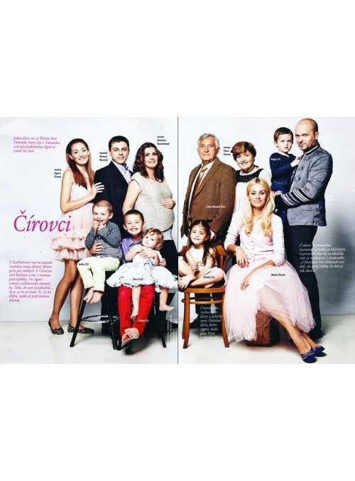 (11/2013-SK) Časopis EMMA – Mária Čírová s rodinkou, Bratislava