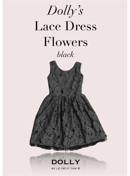 DOLLY floral lace dress - black