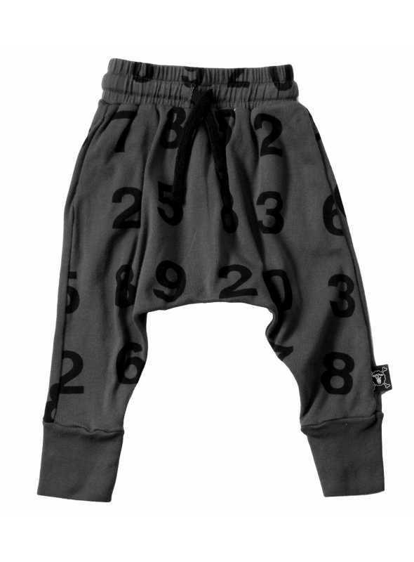 Detské pudlové nohavice – čísla, tmavošedé