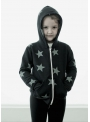 Children's jacket with zipper and hood, black
